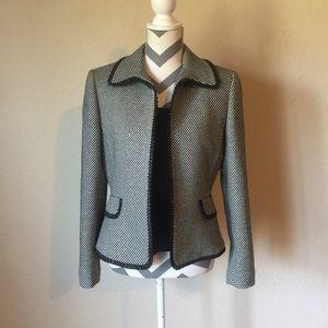Tahari two piece wool striped blazer size 8